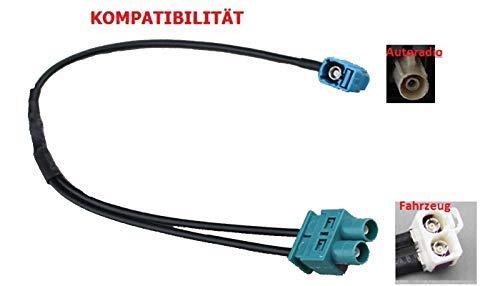 M.I.C.® SKAA-53G: KFZ Auto Radio Antenne Adapter 1 x Fakra Winkelkupplung Buchse - Doppel Fakra Stecker für VW Skoda Audi SEAT