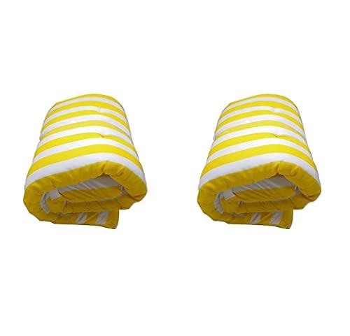Pack de 2 Cojines de Tumbona Acolchada de Rayas 180 x 55 X5 cm Colchón Texturas...