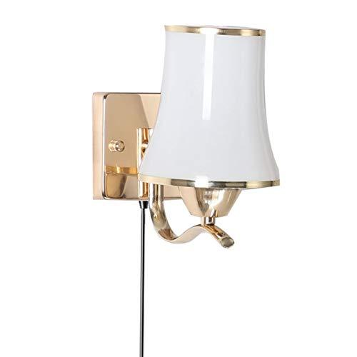 CJIANHUA Luz LED de Pared de la lámpara Interior del Aplique 12W con el Enchufe con Interruptor con Bulbo de fácil Montaje for el pórtico de la Sala Dormitorio Garaje Cocina