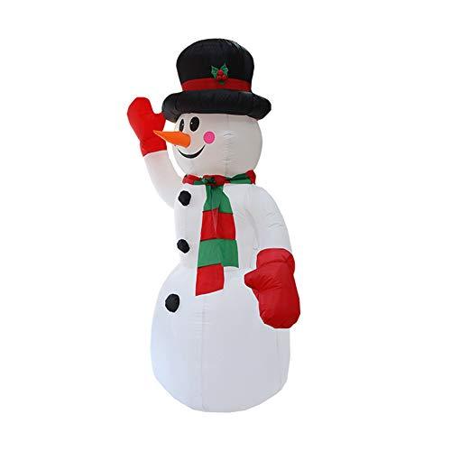 Kslogin Jul trädgård dekoration gåvor uppblåsbar jul snögubbe modell jultomten uppblåsbar modell