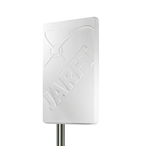 JARFT J1800 LTE Antenne inkl. 2.5m Twin Antennenkabel - 17dBi, 1800MHz - Leistungsstarke 4G Richtantenne passend für Diverse LTE Router