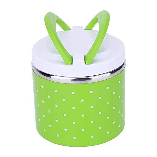 Fiambrera Caja Lunch Box Aislamiento Portátil Acero Inoxidable, 1/2/3 Capa Térmica Aislada de Bento Box Caja de Almuerzo Aislada Resistente con Manija para Niños Adultos
