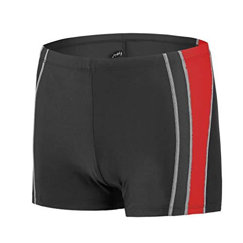 Pottoa Korte zwembroek voor heren, sneldrogend badpak met elastische naden, korte broek, zwembroek voor heren, waterdichte zwembroek