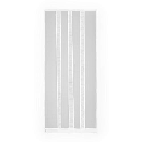Fliegengitter Insektenschutz Tür Polyester Lamellenvorhang Vorhang Mückenschutz 100 x 220 cm weiß