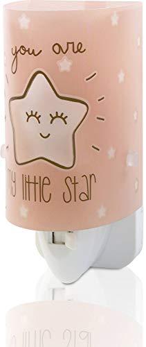 Dalber My Little Star Luz nocturna quitamiedos infantil enchufe led estrella E14, Rosa