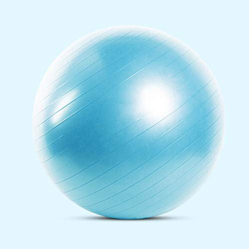 Yoga Ball Stühle Anti-Burst-Gymnastikball, Stabilitätsball 55 cm Durchmesser Pumpe für Yoga Pilates Fitness-Physiotherapie-Fitnessstudio und Heimtraining - Geeignet für Männer- und Frauentraining