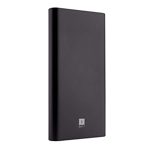 iBall Portable Power Bank, iB-10000M QCPD, Dual USB Output, Black