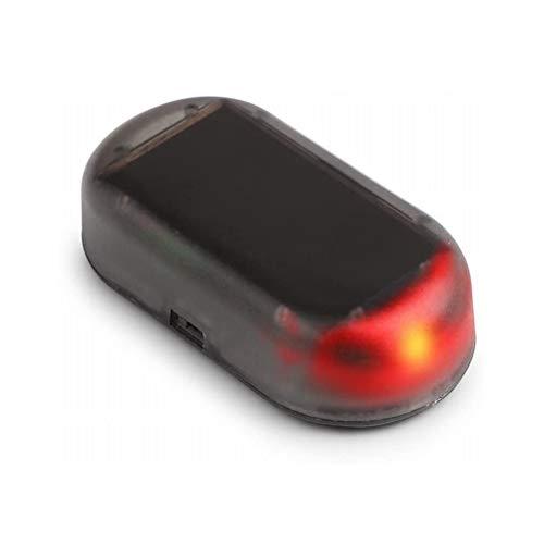 WSTERAO Sistema de Alarma Auto Energía Solar Alarma automática simulada Luz LED Simulación de Advertencia de imitación, Advertencia de Alarma Sistema antirrobo Lámpara LED antirrobo Intermitente