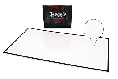Forged Dice Co. Dry Erase Battle Board with Grid and Hex Map Pattern - Gameboard Only Edition - Compatible with D&D RPG Games for use as a Game Mat, DND Mat, Battle Mat, or Dungeons and Dragons Board