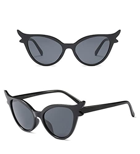 U/N Gafas de Sol únicas Vintage para Mujer con Marco Rojo, Gafas de Sol Negras Retro, Sombras, Regalo-4