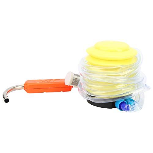 【𝐑𝐞𝐠𝐚𝐥𝐨 𝐝𝐞 𝐍𝐚𝒗𝐢𝐝𝐚𝐝】Bomba de agua de pie de plástico + metal, extractor de dispensador de agua amarillo, dispensador de agua bombeable, para pesca al aire libre, lavado de manos en el ma