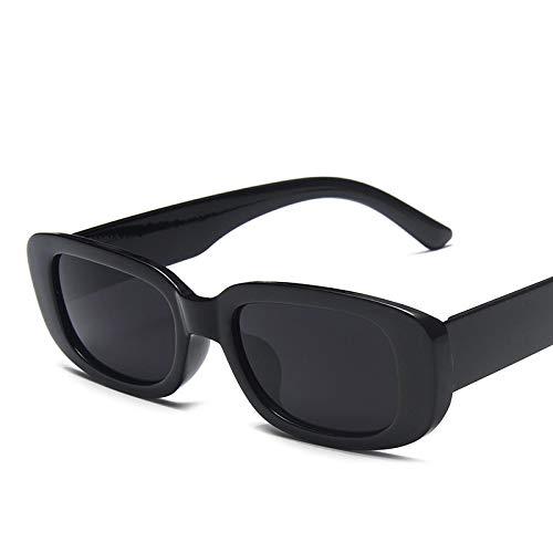 Gafas De Sol Cuadradas Retro Clásicas para Mujer, Gafas De Sol Rectangulares Pequeñas De Viaje Vintage para Mujer, C1Black