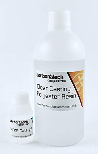 carbonblack composites Water Clear Casting Polyester Resin 500g kit (Pack of 6)