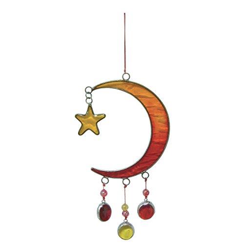 laroom 10925 – Pendentif de la Lune avec Estrellita, Couleur Rouge, Jaune