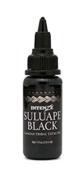 Intenze Tattoo Ink Supplies Black Samoan Tribal Ink Professional Quality Dark Intense Color 1 Ounce Bottle