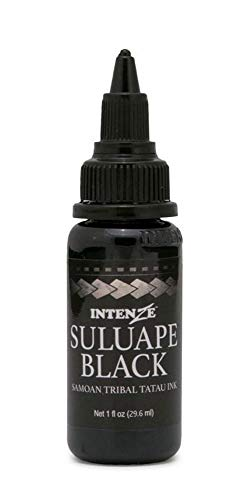 Intenze Tattoo Ink Supplies Black Samoan Tribal Ink Professional Quality Dark Intense Color, 1 Ounce Bottle