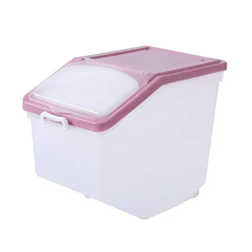 Seau de Riz hermétique 10KG 15KG 25KG Boîte de Rangement en Plastique de Cuisine de récipient de Stockage de céréales (Taille : 42.3 * 30.6 * 39cm)