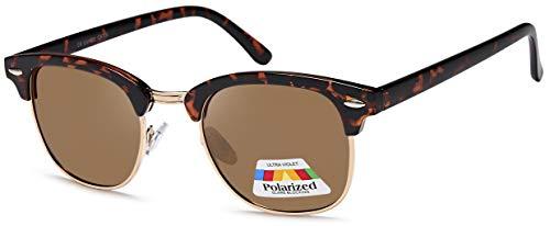 Vintage zonnebril in 60-stijl met trendy goudkleurige metalen beugels Panto - retro bril