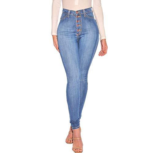 Uusollecy Damen Skinny High Waist Jeans Stretch Jeanshose