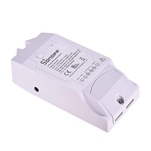 Docooler Sonoff Dual R2 WiFi Inalámbrico Smart Switch 2 Gang Smart Home El Control Remoto de WiFi Funciona con Google Home (1pc)