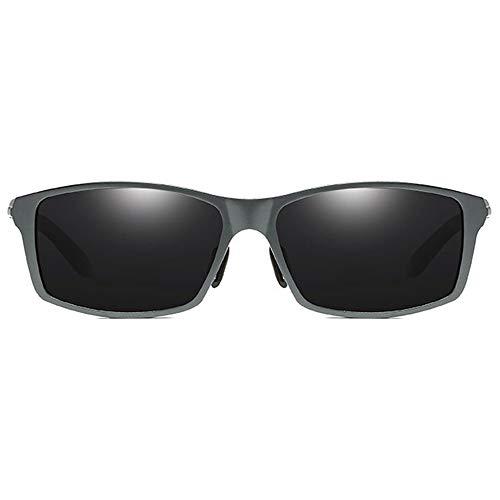 MGWA Gafas de sol Clásico Antienil-Magnesio Gafas de sol Gafas de sol Marco Gris/Verde Lente Polarizadas para Hombre (Color: Gris)