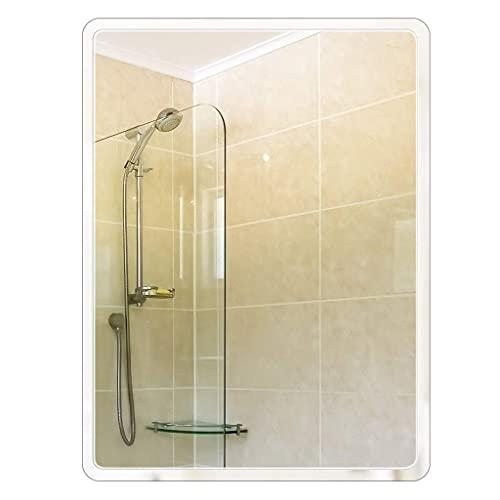 N&G Accesorios para Sala de Estar Espejo de Pared 50 X 70CM Vidrio sin Marco Espejo de Maquillaje HD Rectángulo Moderno Espejo de baño Grande para vanidad Sala de Estar Gimnasio Pasillo Dormitorio