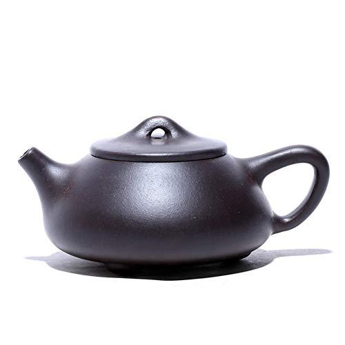 HePing Wu Zhuni Tetera de té Negro Mineral de Piedra Maestros Olla de Cuchara de la Tetera Hecha a Mano (Color : Black Zhu mud)
