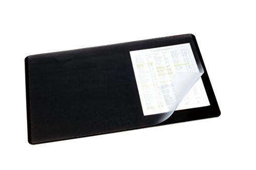 Durable 720201 Schreibtischunterlage (mit transparenter Auflage, 530 x 400 mm) 1 Stück schwarz