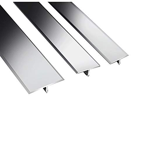NIBABA Easy to Install Cubierta de Perfil de Alfombra Transición Transición Laminado T Forma Puerta de Aluminio Puerta Gris Piso Barras Tira de umbral Aluminum Alloy Floor Strips