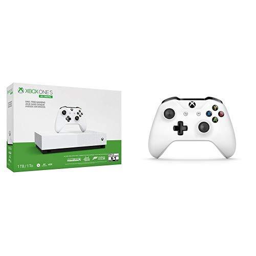 Microsoft Xbox One S All Digital - Consola de 1 TB + Microsoft - Mando Inalámbrico: Amazon.es: Videojuegos