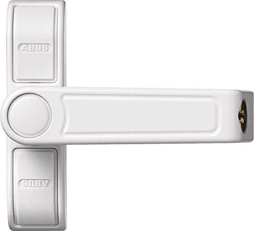 ABUS Fenster-Zusatzsicherung 2410 AL0145 - Sicherheitsschloss mit Schwenkriegel für einflügelige Fenster, gleichschließend - Sicherheitslevel 6 - 89627 - weiß