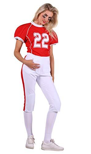 Thetru American-Football-Kostüm für Damen | Größe XS | Footballkostüm für Frauen (XS)