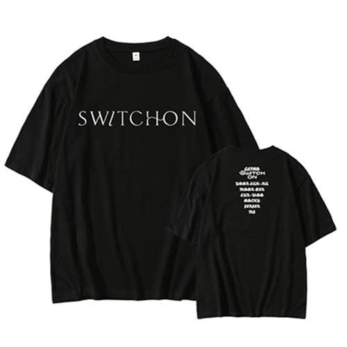 ZIBADTAL Kpop Astro 2021 Switch ON T-Shirt 100% algodón manga corta camiseta para mujer Streetwear Tops, 1, M