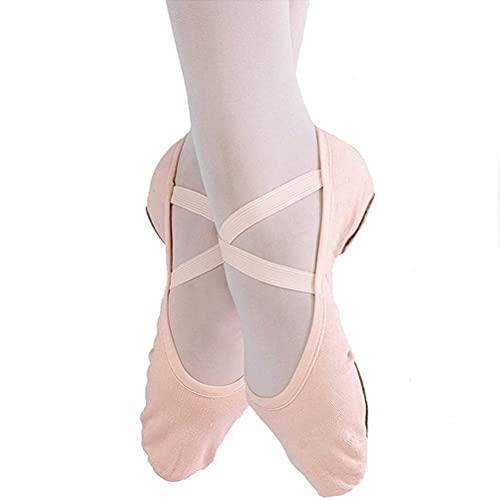 Zapatos de Ballet Mujeres, Zapatillas de Baile Zapatos de Yoga de Gimnasia para niños, Adultos, niñas y Damas (Color : Pink, Size : 29 EU)