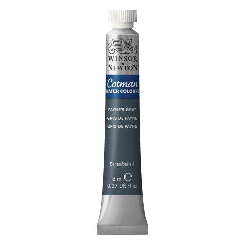 Winsor & Newton Watercolor 8ml/Tube-Payne's Gray Cotman Water Colour Paint, 8-ml 3 Fl Oz