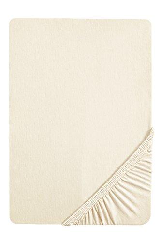 #7 biberna Jersey-Stretch Kinder Spannbettlaken, Spannbetttuch, Bettlaken, 60x120 – 70x140 cm, Natur