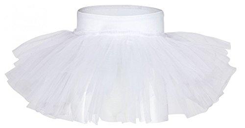 tanzmuster ® Tutu Mädchen Ballettrock - Pia - Tuturock aus Tüll zum Reinschlüpfen - Tuturock in weiß, Größe:116/122