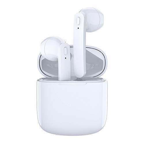 Bluetooth Kopfhörer In Ear,Kabellose Kopfhörer In Ear Bluetooth 5.0 TWS In Ear Kopfhörer 30-Stunden Spielzeit Wasserdicht Kopfhörer Kabellos mit Mikrofon für Arbeit/Laufen/Reise/Turnhalle (Weiß)