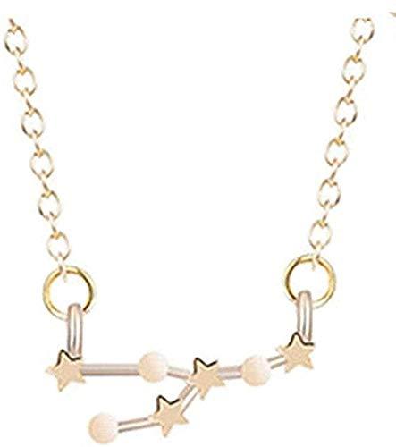 Collar para mujer, collar para hombre, astrología, zodiaco, declaración, colgante, collar, constelación de mujer, horóscopo, Virgo, Leo, cadena, collar, regalo de cumpleaños para niñas, regalo