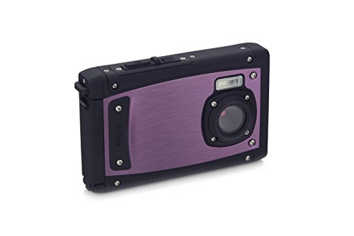 """Coleman C40WP-P 20 Mega Pixels Waterproof Underwater Digital Camera with Full 1080p HD Video, 2.5"""" LCD & 8X Digital Zoom, Purple"""