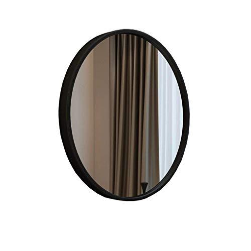 IG Maquillaje Espejo/Pared Colgando Espejo Decorativo/de Pared Espejo/Espejo de Pared Colgando Espejo Redondo/Espejo de Afeitado/de Afeitado Espejo Colgante Decorativo/Blanco,Negro,70 cm