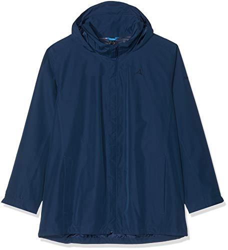 Schöffel Herren Jacket Aalborg2 Wasser- und Winddichte Outdoorjacke mit verstaubarer Kapuze, atmungsaktive Regenjacke für Männer, Dress Blues, 66