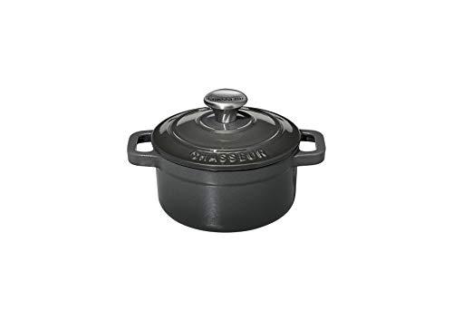 Chasseur PUC471089 Mini-cocotte, 10 cm, Caviar, 0.35 liters, intérieur Noir