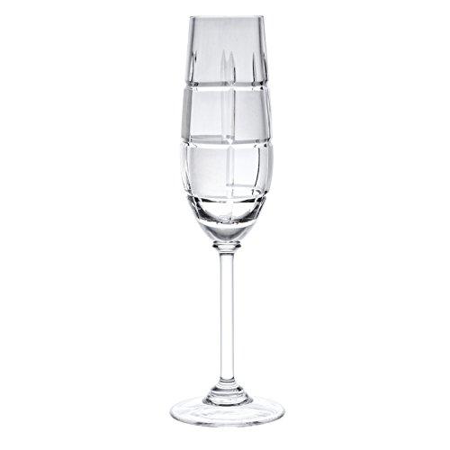 Chesset de cristal victoria Champagne 24% Coupe cristal de ploMB 100% fait main (Set de 6)