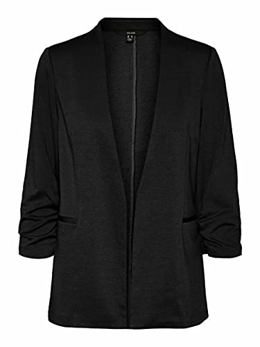 Vero Moda VMMASHA 3/4 Blazer TLR, Negro, 36 para Mujer