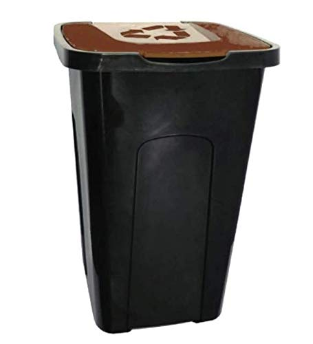 keeeper Mülleimer Abfallbehälter Küche Mülltrenner Abfalltonne Abfalleimer Papierkorb 50 L (Braun)