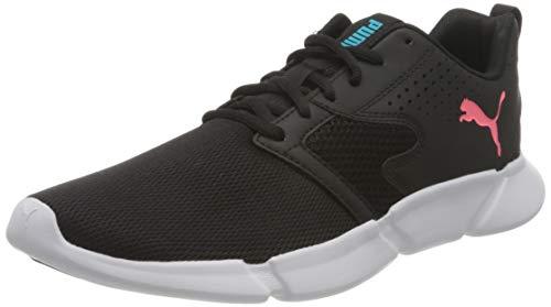 Puma Unisex 192805 Road Running Shoe, Black White, 9 UK