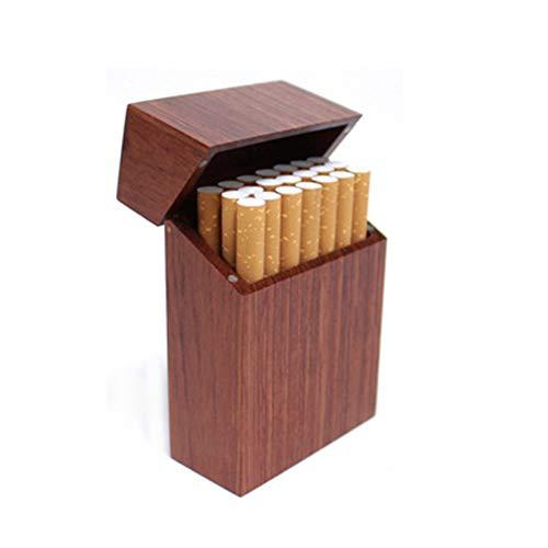 NACHEN Zigarettenetui aus Holz Magnet Adsorption Clamshell Tragbare Zigarettenkiste Zigaretten Zigarre Kasten,Color1,101X68X32CM