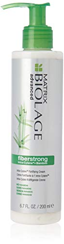 BIOLAGE Advanced Fiberstrong Intra-Cylane Fortifying Cream | Smooths Frizzy Hair & Prevents Breakage | Paraben-Free | For Fragile, Damaged Hair | 6.8 Fl. Oz.