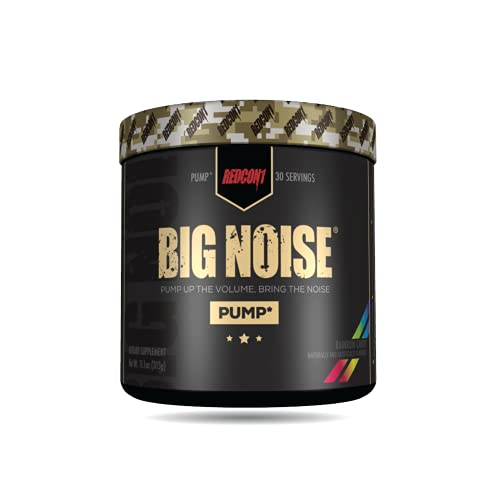 Redcon1 - Big Noise Pump Formula - 30 Servings (Rainbow Candy) , Non Stim Pre and Pump, Insane Pumps, Increased Vascularity, Increased Mental Focus
